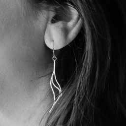 close up of a woman's ear